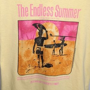 Endless Summer Movie Yellow VNeck L Surfing